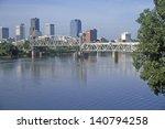 bridge over arkansas river view ... | Shutterstock . vector #140794258