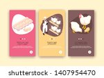 organic eggs and chicken meat...   Shutterstock .eps vector #1407954470
