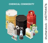 commodity isometric composition ... | Shutterstock .eps vector #1407954476