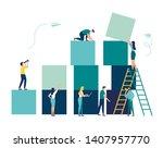 business concept. team metaphor.... | Shutterstock .eps vector #1407957770