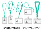 lanyard id card. office access... | Shutterstock .eps vector #1407960290