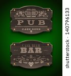 Vintage Wooden Signs For Pub...