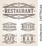 vintage restaurant and cafe... | Shutterstock .eps vector #140796166