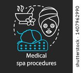 medical spa procedures chalk... | Shutterstock .eps vector #1407962990