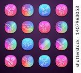 pasta noodles app icons set.... | Shutterstock .eps vector #1407963053