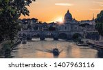 the city of rome at sunset | Shutterstock . vector #1407963116