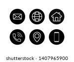 web icon set. contact us set of ... | Shutterstock .eps vector #1407965900