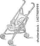 Sketch Of Baby Toy Carriage...