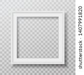 square white frame with soft... | Shutterstock .eps vector #1407991820