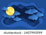 paper cut night sky. dreamy...