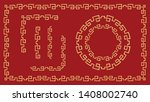 chinese traditional ornaments.... | Shutterstock .eps vector #1408002740