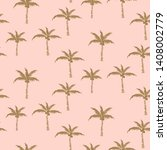 palm trees gold on pink retro...   Shutterstock .eps vector #1408002779