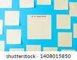 blank yellow sticky notes on a... | Shutterstock . vector #1408015850