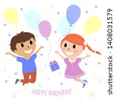 vector illustration of happy... | Shutterstock .eps vector #1408031579