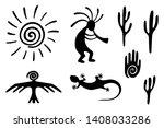 kokopelli fertility deity  hand ... | Shutterstock .eps vector #1408033286