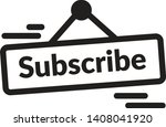 subscribe plate icon as eps 10... | Shutterstock .eps vector #1408041920