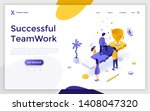 landing page template with... | Shutterstock .eps vector #1408047320