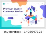 landing page template with...   Shutterstock .eps vector #1408047326