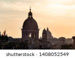 the city of rome at sunset | Shutterstock . vector #1408052549