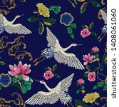 embroidery seamless pattern... | Shutterstock .eps vector #1408061060