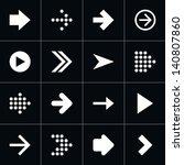 16 arrow pictogram white icon...