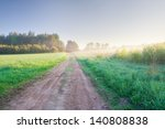 rural sandy road at sunset | Shutterstock . vector #140808838