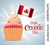 muffin with canada flag to... | Shutterstock .eps vector #1408096190
