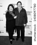 """Small photo of New York, NY - April 26, 2019: Margo Martindale and Skipp Sudduth attend the """"Blow The Man Down"""" screening during the 2019 Tribeca Film Festival at SVA Theater"""