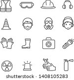 safety icon thin line vector | Shutterstock .eps vector #1408105283