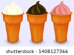 different sorts of ice cream in ... | Shutterstock .eps vector #1408127366