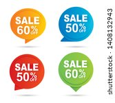 sale circle banner multi color... | Shutterstock .eps vector #1408132943