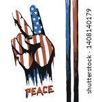 american victory peace fingers... | Shutterstock .eps vector #1408140179
