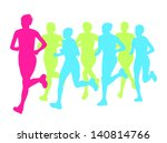 women marathon winner finish... | Shutterstock .eps vector #140814766
