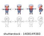 vector illustration of a cute... | Shutterstock .eps vector #1408149383