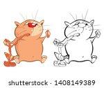 vector illustration of a cute... | Shutterstock .eps vector #1408149389