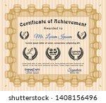 orange certificate template....   Shutterstock .eps vector #1408156496
