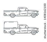 line vector icon set american...   Shutterstock .eps vector #1408162100