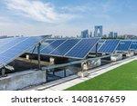 solar and modern city skyline  | Shutterstock . vector #1408167659