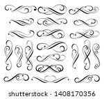elegant elements of design... | Shutterstock .eps vector #1408170356