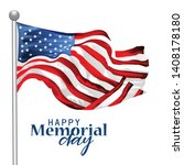 vector illustration of memorial ...   Shutterstock .eps vector #1408178180