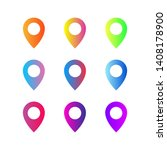 gradient pointers isolated.... | Shutterstock .eps vector #1408178900