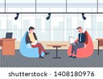 businessman using laptop and...   Shutterstock .eps vector #1408180976