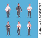 set businessmen in formal wear... | Shutterstock .eps vector #1408180979