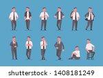 set businessmen in formal wear...   Shutterstock .eps vector #1408181249