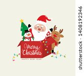 merry christmas and happy new... | Shutterstock .eps vector #1408192346