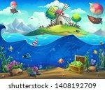 marine life landscape   the... | Shutterstock .eps vector #1408192709