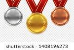 realistic medal set. gold... | Shutterstock .eps vector #1408196273