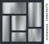 metal plates. steel plate ... | Shutterstock .eps vector #1408196570