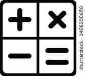 calculator icon black and white | Shutterstock . vector #1408200650