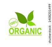 100  organic vector logo design. | Shutterstock .eps vector #1408201499